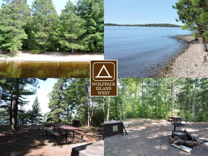 N46 - Wolfpack Island WestN46 - Wolfpack Island West campsite on Namakan Lake