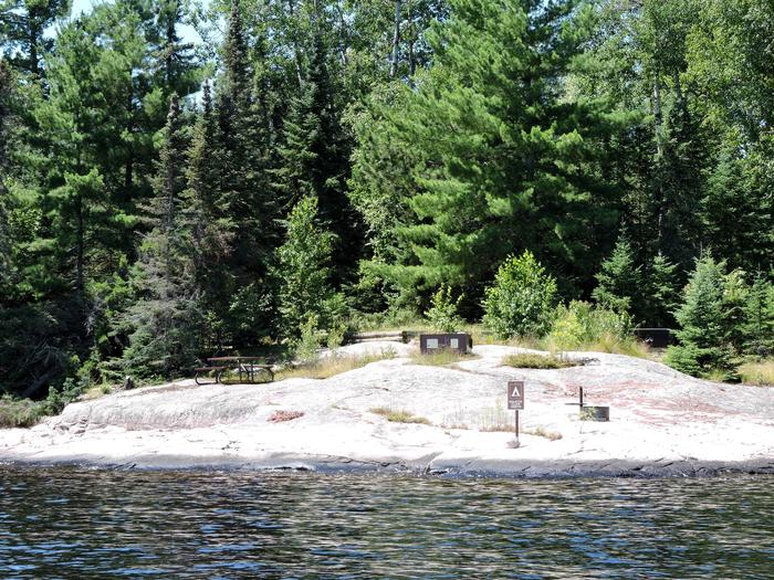 S6 - Granite Cliff NorthView of campsite from the water