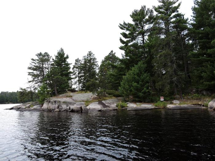 S17 - South IslandView of campsite from the water