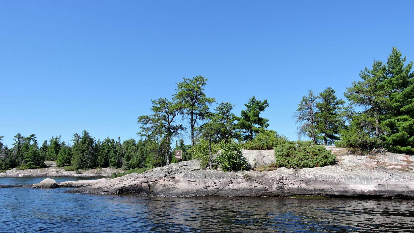 S18 - Stoneburner IslandView of campsite from the water