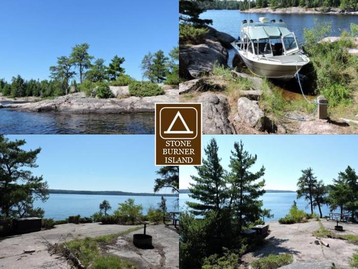 S18 - Stoneburner IslandS18 - Stoneburner Island campsite on Sandpoint Lake