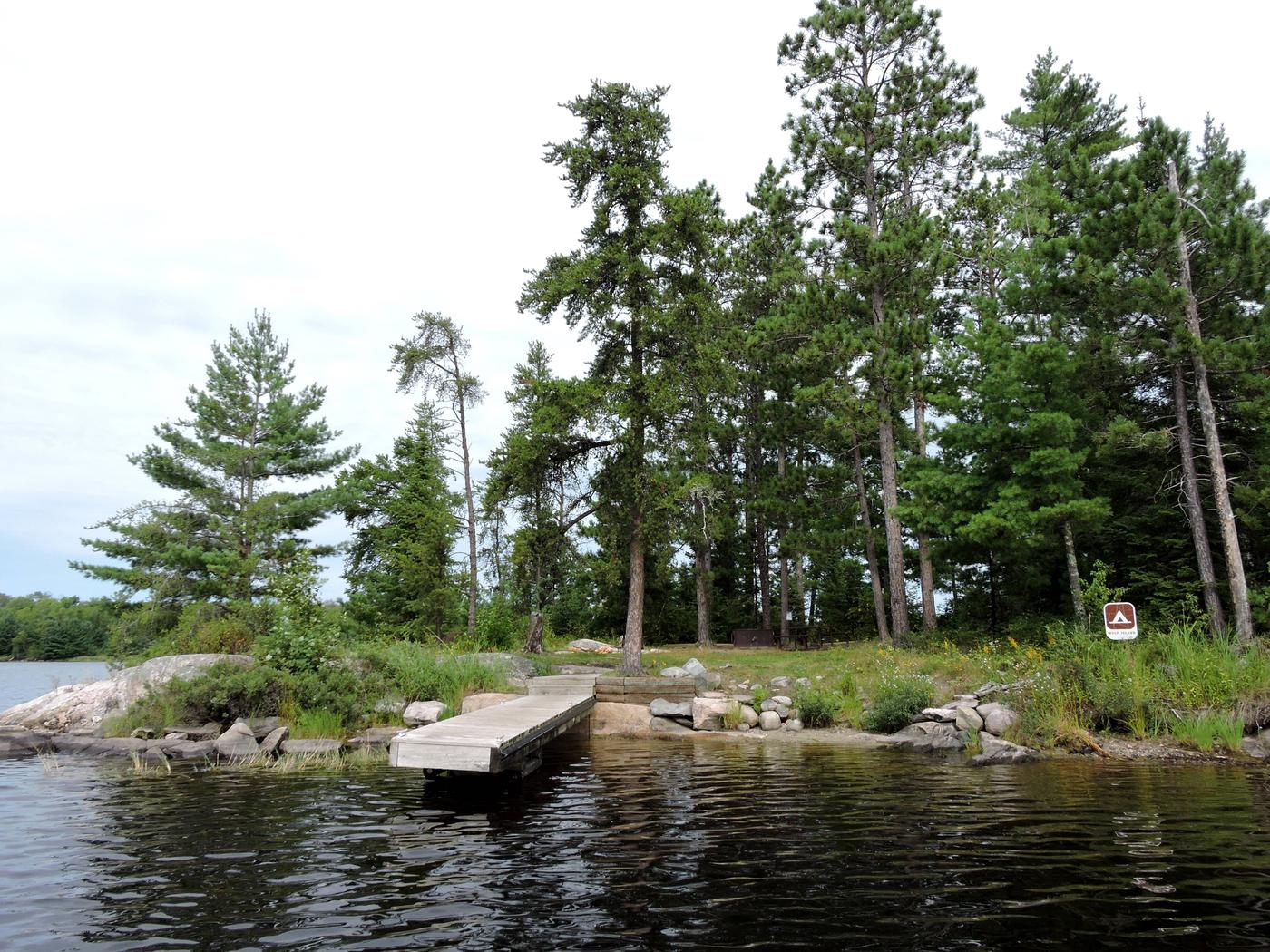 S19 - Wolf IslandView of campsite from the water
