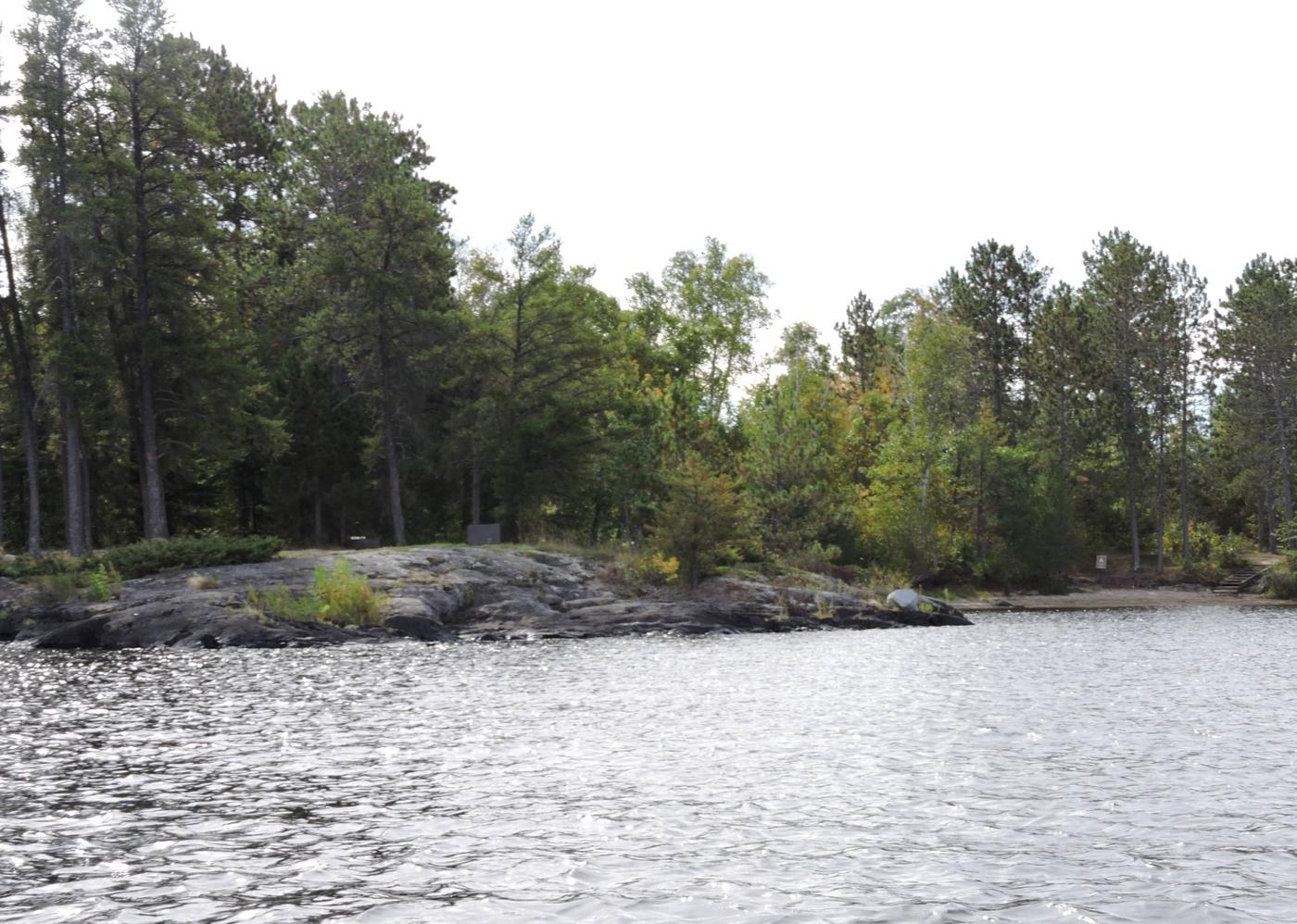 R10 - Diamond Island SouthView of campsite from the water