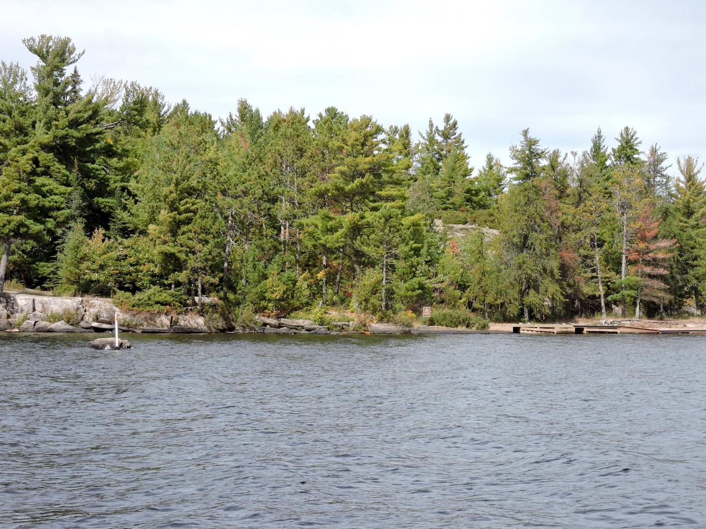 R11 - Dryweed IslandView of campsite from the water