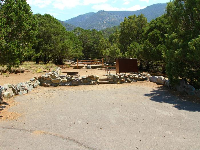 Site #85, Pinon Flats Campground
