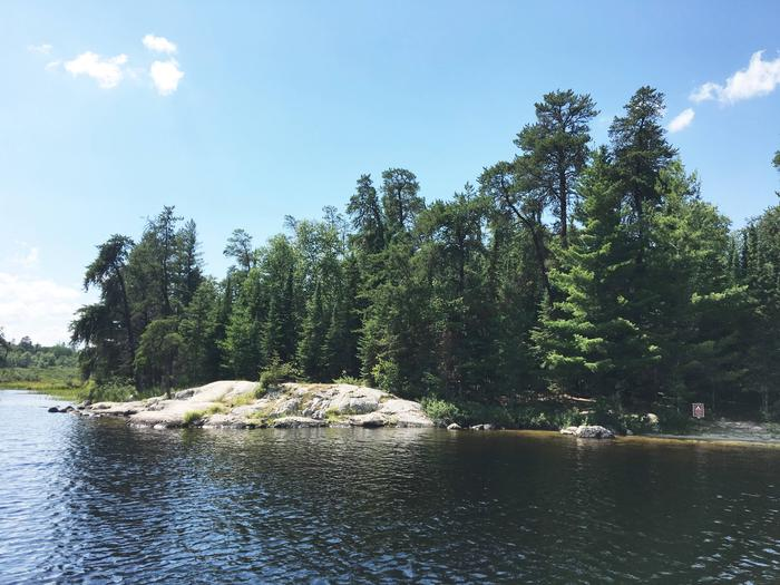 R54 - Beaver LodgeView of campsite from the water