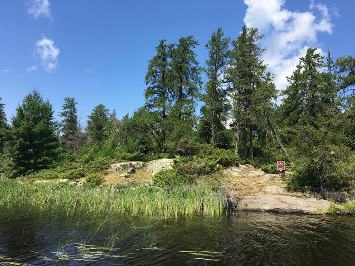 R55 - Jack Pine BenchView of campsite from the water