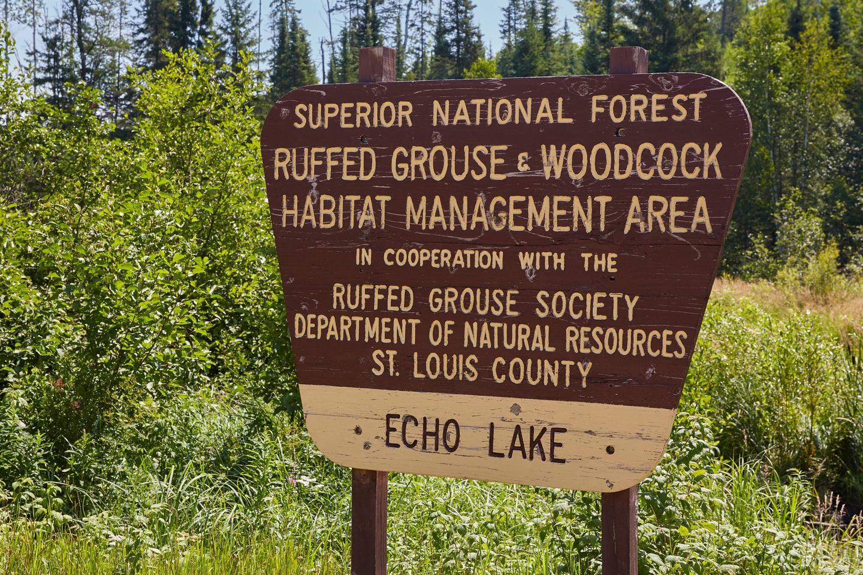 Habitat Area SignRuffed Grouse Habitat Area
