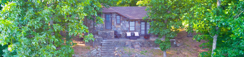 White Rock Mountain, Cabin BCabin B back patio.