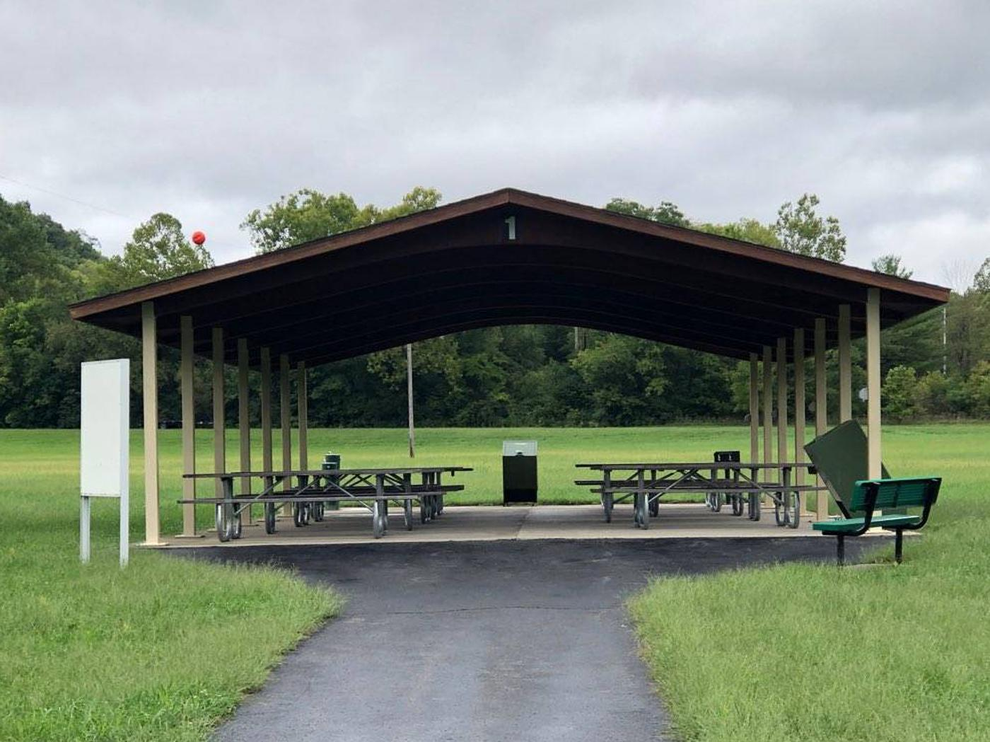 TAILWATER SHELTER 1 (BROOKVILLE LAKE)ENTRANCE VIEW
