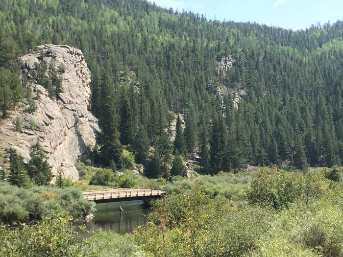 View from Cove Campground / fishing on the South Platte RiverCove Campground