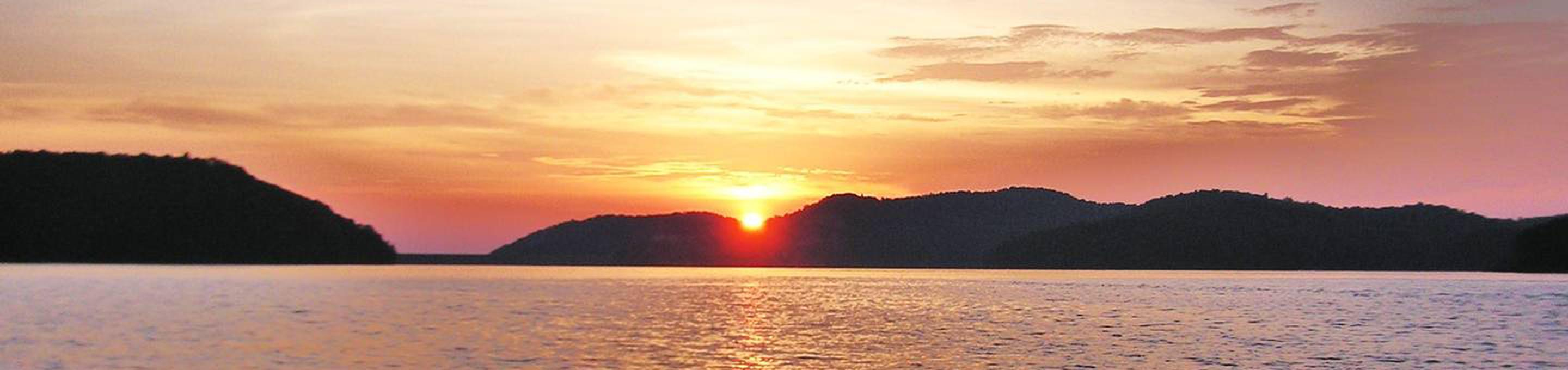 Sunset over carters lakeSunset