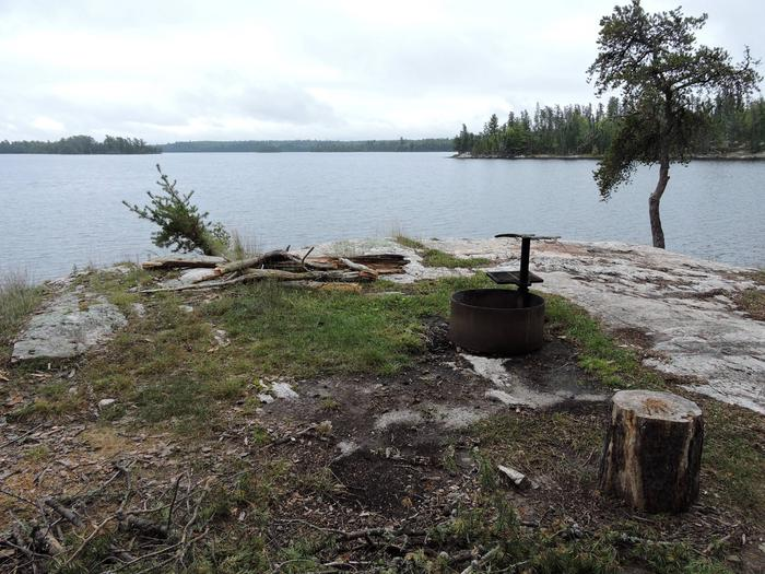 R54 - Beaver LodgeView looking out from campsite