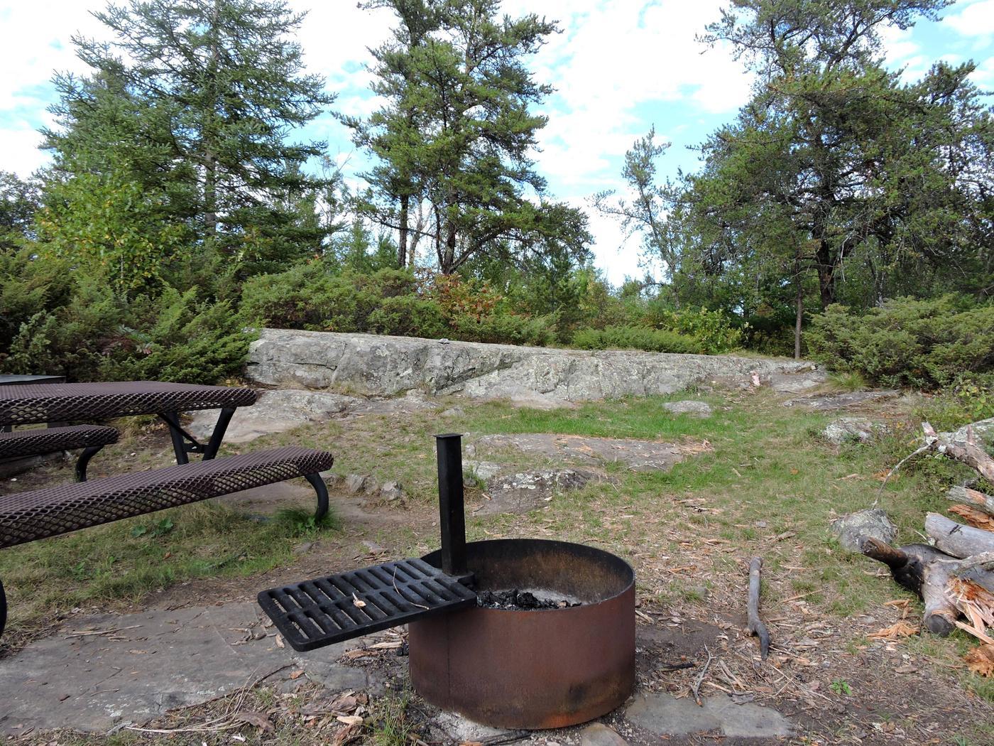 R55 - Jack Pine BenchView of campsite