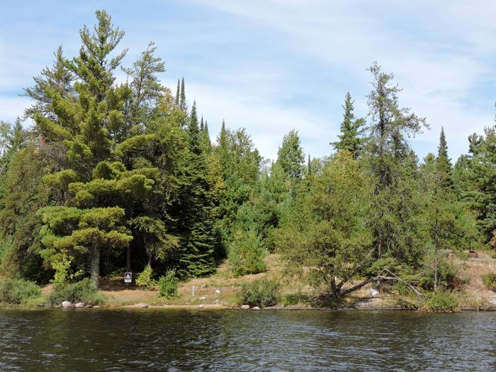 R61 - Harrison BayView of campsite from the water