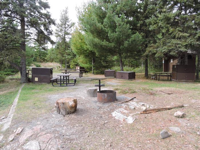 R74 - Rainy Lake GroupView of campsite
