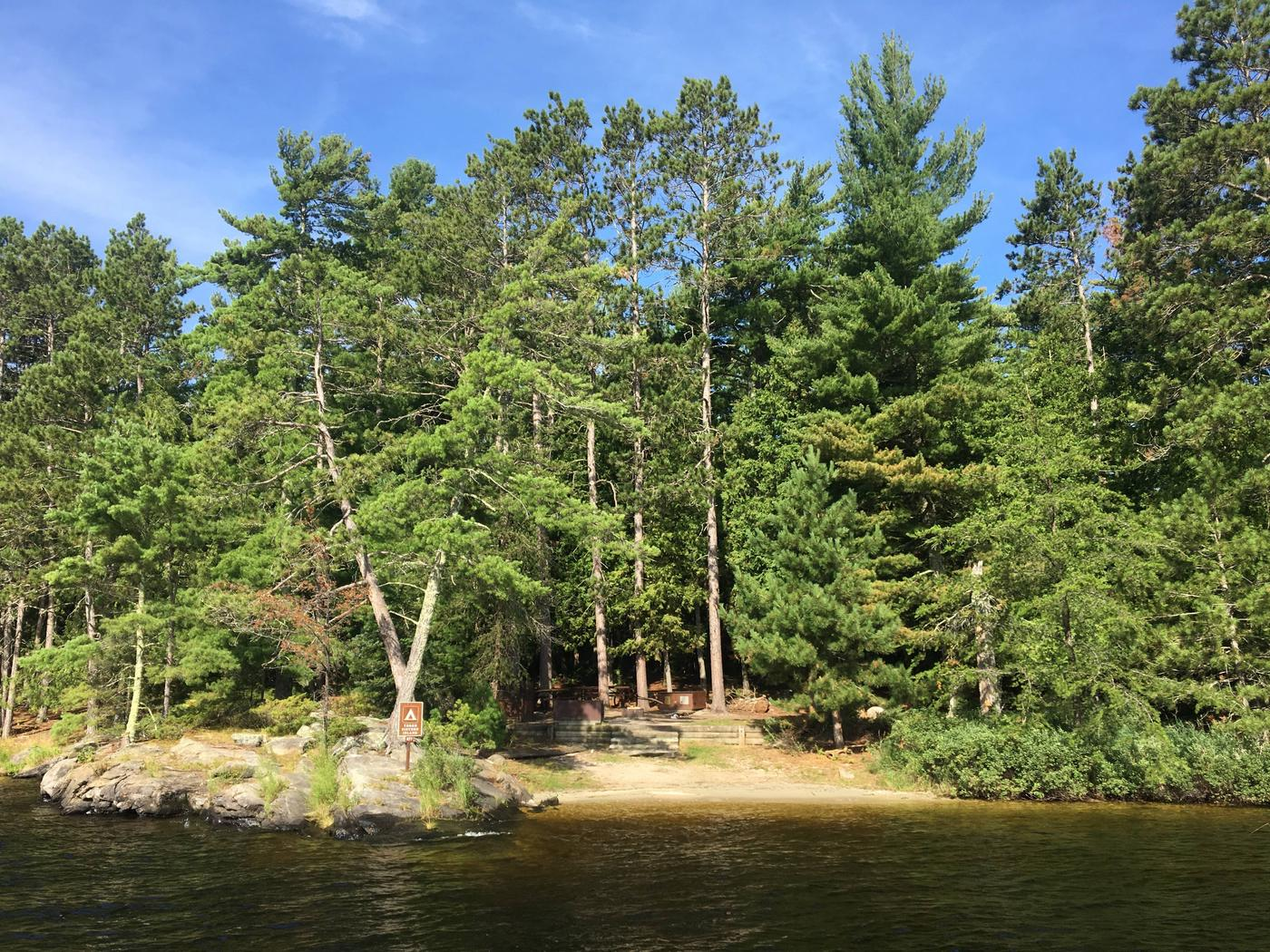 R77 - Three Sisters IslandView of campsite from the water