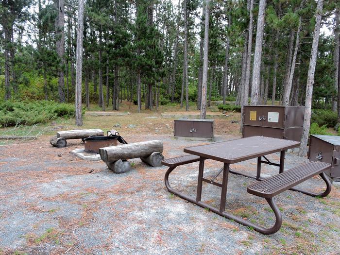 R92 - Blueberry Island WestView of campsite