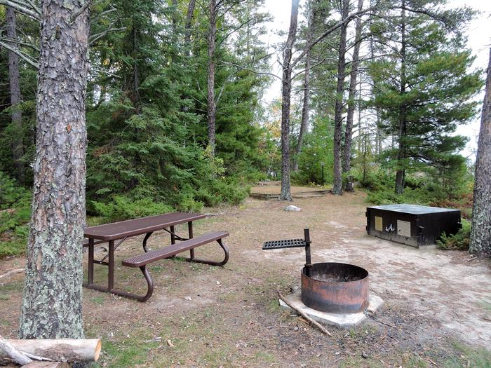 R104 - Saginaw Bay WestView of campsite