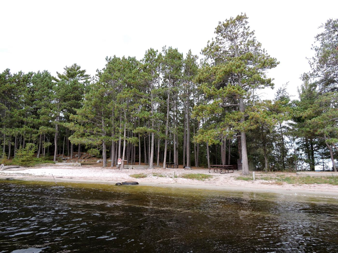 R106 - Shelland IslandView of campsite from the water