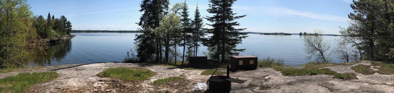 K6 - Cutover Island SouthK6 - Cutover Island South campsite on Kabetogama Lake