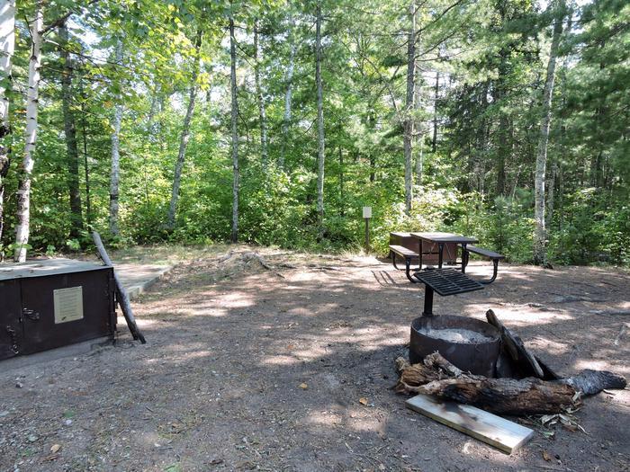 N46 - Wolfpack Island WestView of campsite
