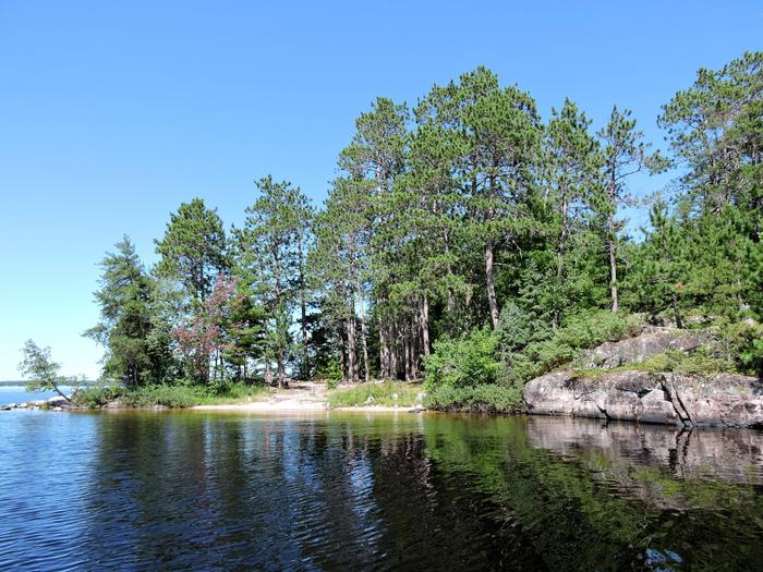 N48 - Wolf Pack Island EastView of campsite from the water