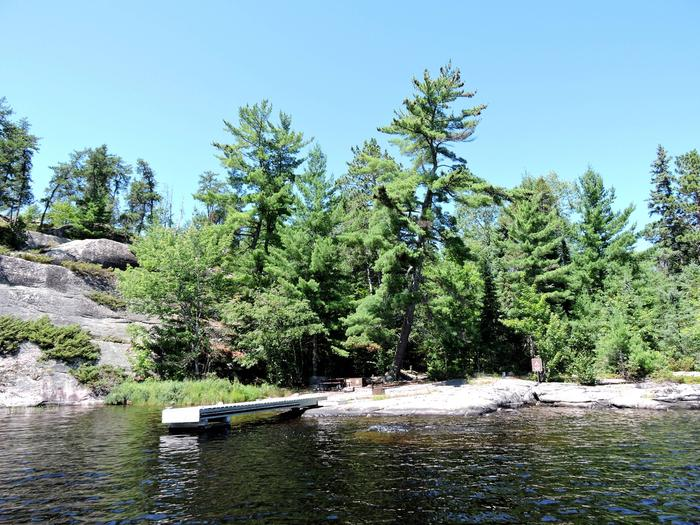 S7 - Granite Cliff SouthView of campsite from the water