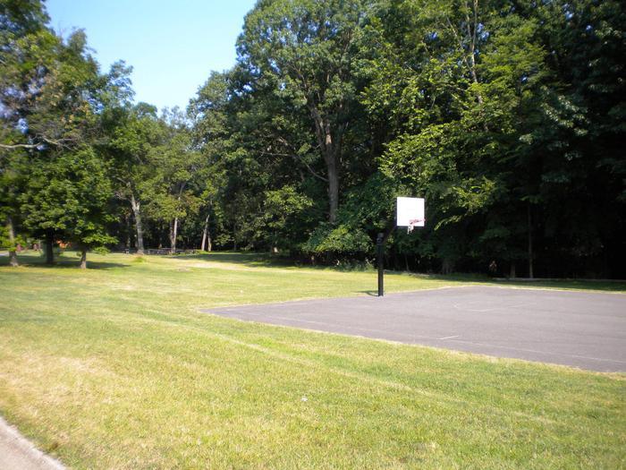 Photo of basketball courtArea C is located next to the basketball court.