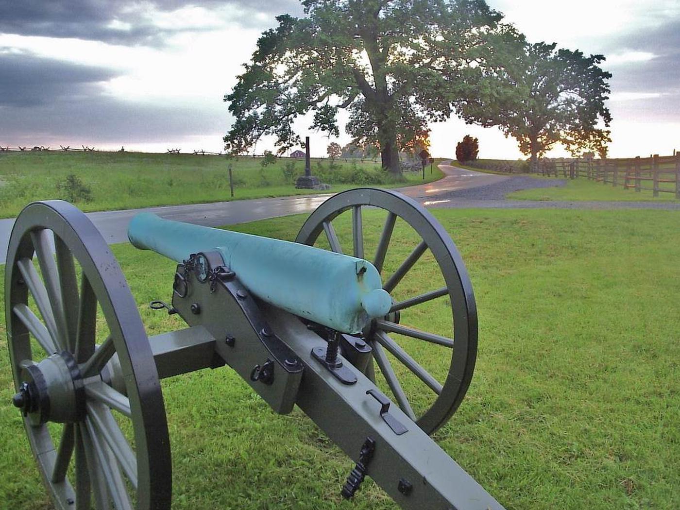 Cannon along park avenue