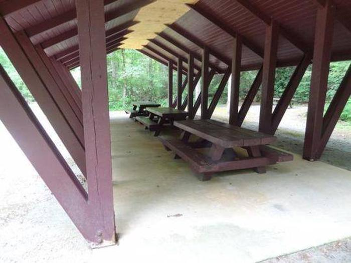 Houston Valley Pavilion picnic tables