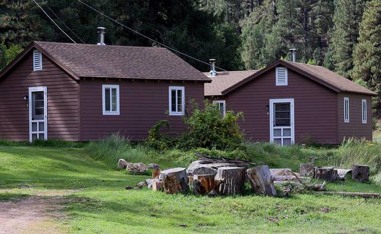 Rental CabinsCabins are close to one another and easy walking distance to bathhouse and kitchen