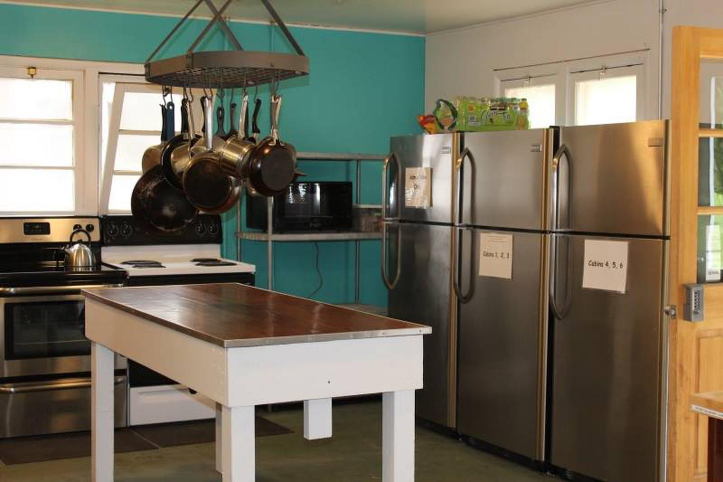 KitchenThe shared cooking space is a welcome touch to the community atmosphere.