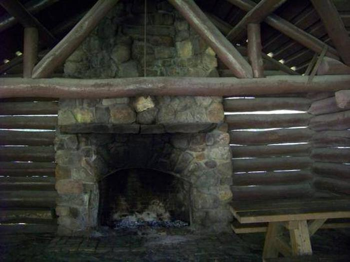 Fireplace in Backbone Rock Pavilion