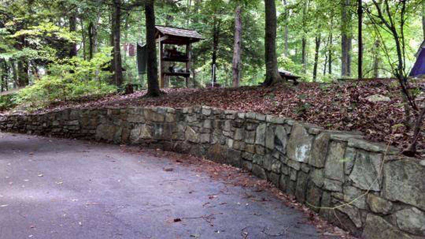 Rock walls at Cardens Bluff Campground
