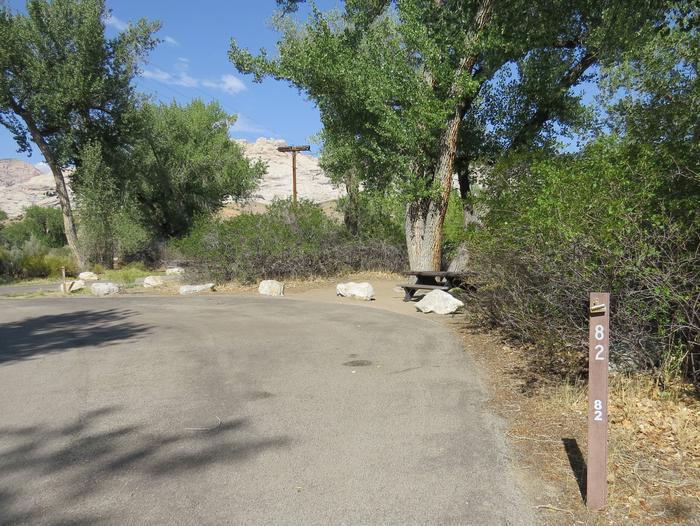 Site 82Pull-through parking area.