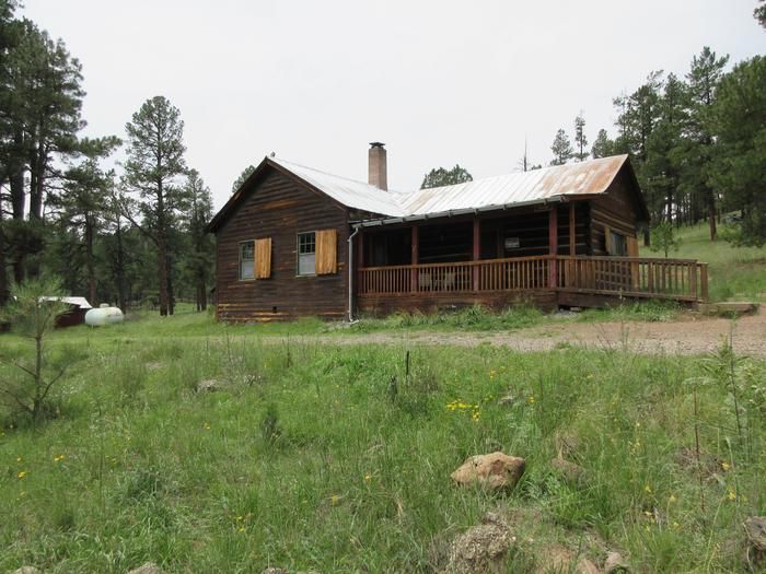 Front of Caldwell Cabin, Alpine Ranger District, ArizonaCaldwell Cabin