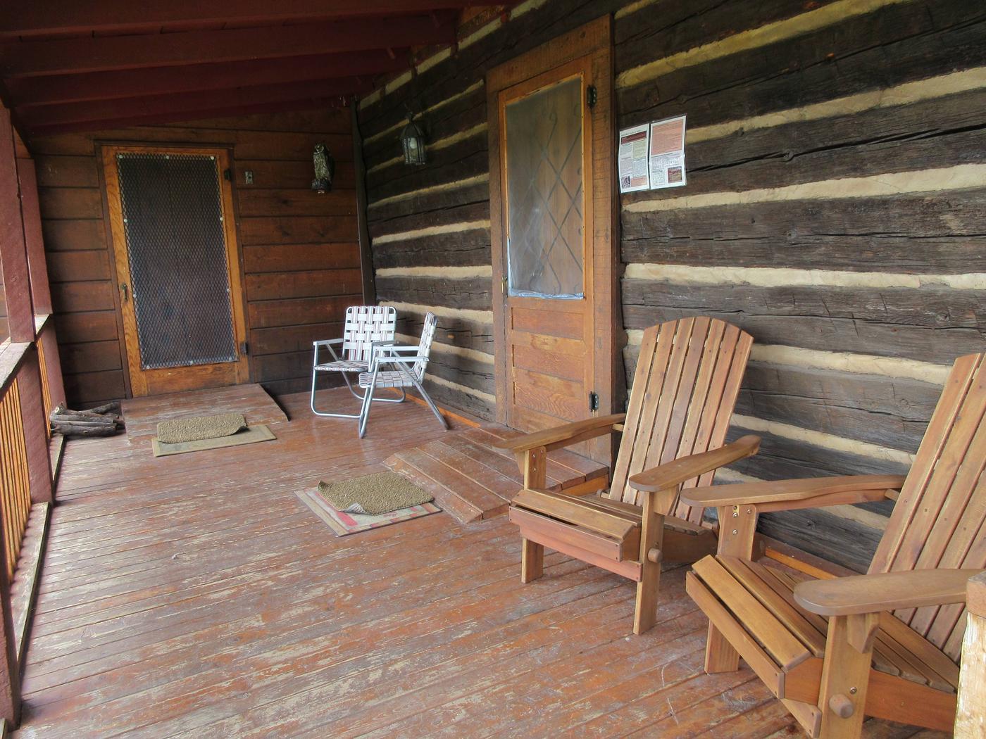 Porch on Caldwell CabinCaldwell Cabin