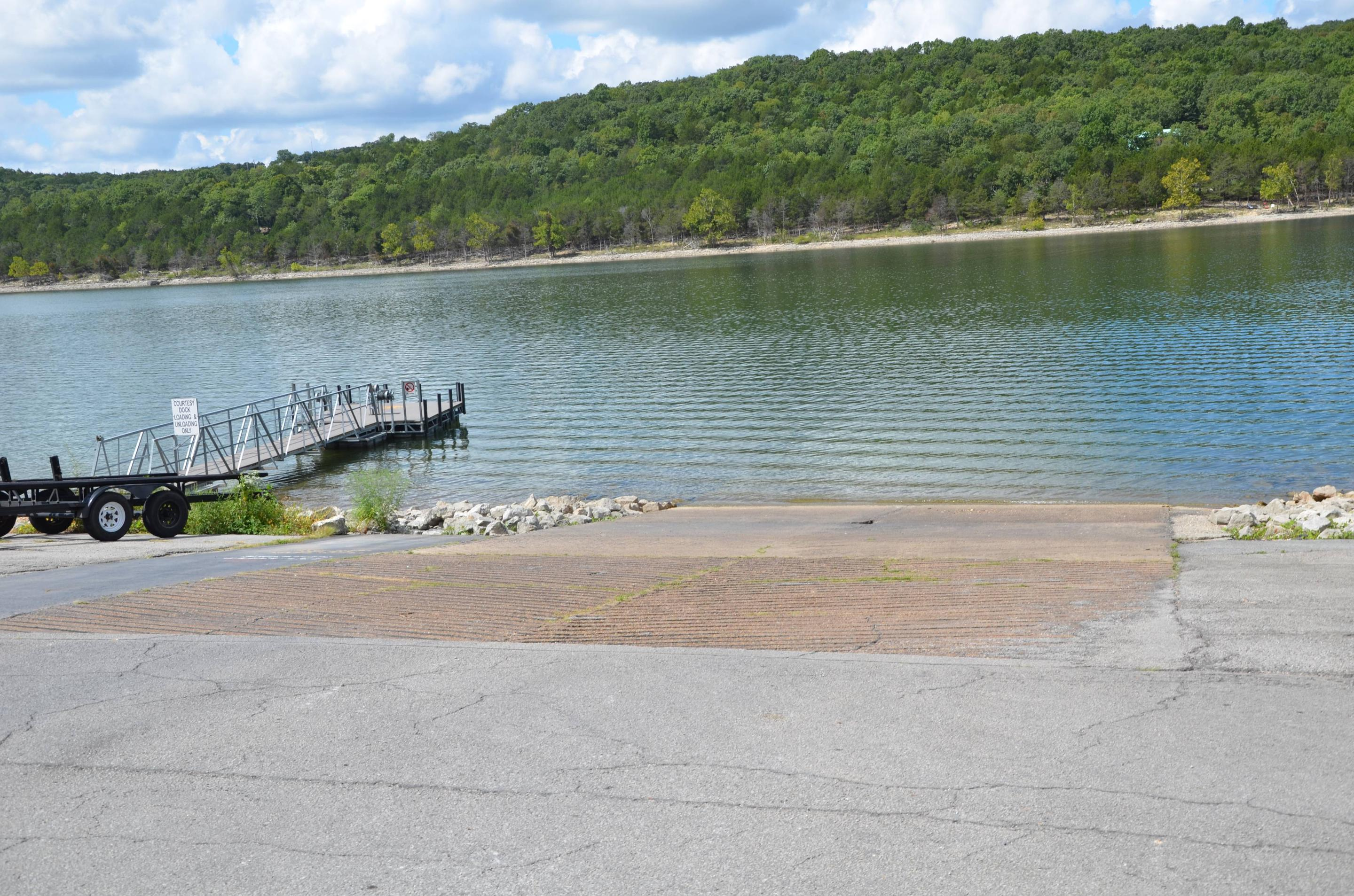 Aunts CreekOne of two boat ramps.