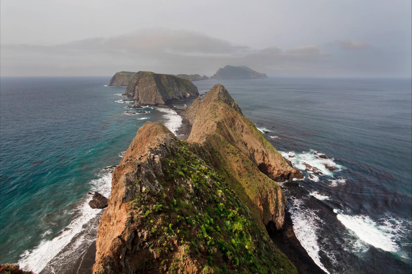Inspiration Point by Tim HaufInspiration Point, Anacapa Island: One of the most spectacular views in the park can be found from Inspiration Point. Looking to the west, one may see Middle and West Anacapa, with Santa Cruz Island in the distance.