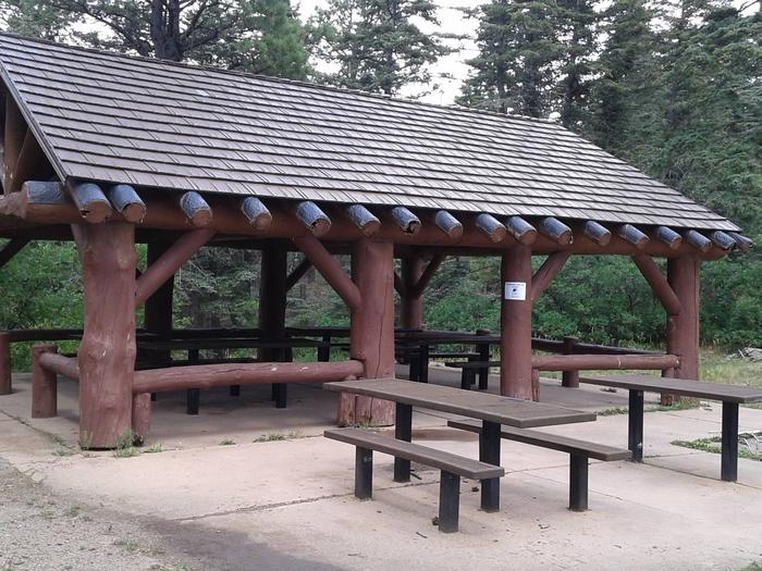 This is a picture of the Reservable pavilion Balsam Glade reservable group pavilion