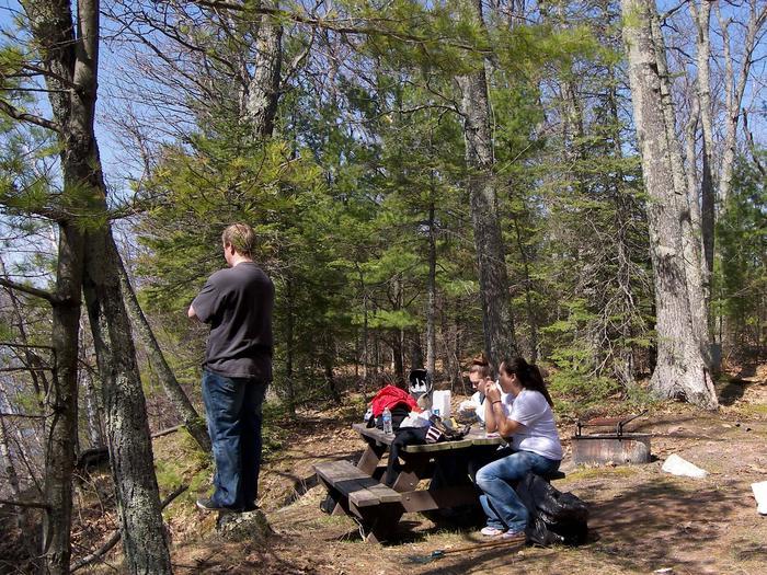 Basswood site 4 campsite