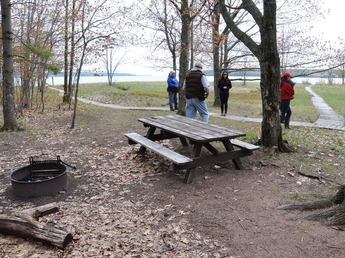 Oak Island site 1 campsite