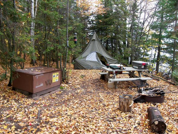 Oak Island site 2 campsite