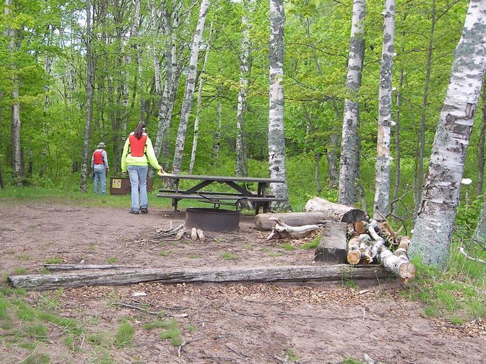 Oak Island site 6 campsite