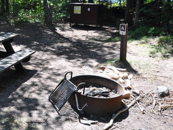 Otter Island site 1 campsite