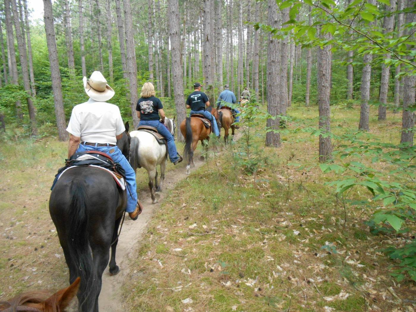Hungerford Horse Trail, Manistee National ForestOut for a trail ride, Hungerford Horse Trail
