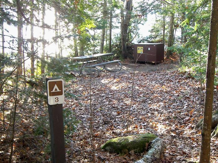 Rocky Island site 3 campsite