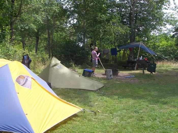 Sand Island site 1 campsite