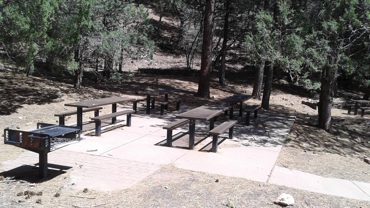 this is a picture of tables and a large grill at the group siteTables and large grill in group site